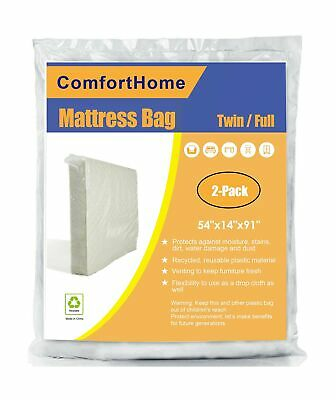 ComfortHome 2 Pack Mattress Bag for Moving and Storage ...