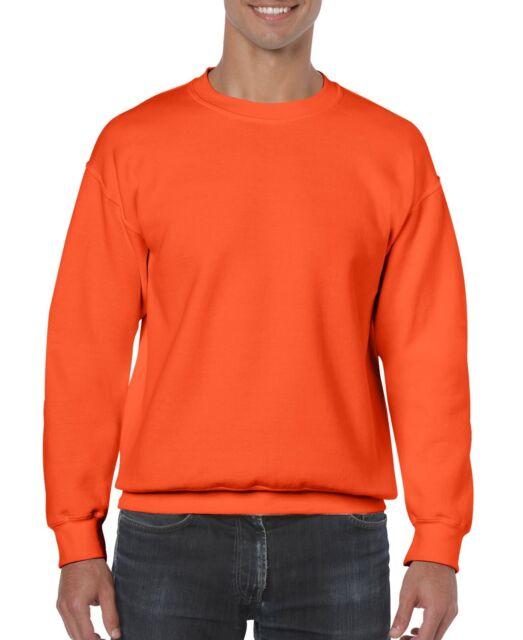 2xl Orange Gildan Cotton Crewneck Sweatshirt