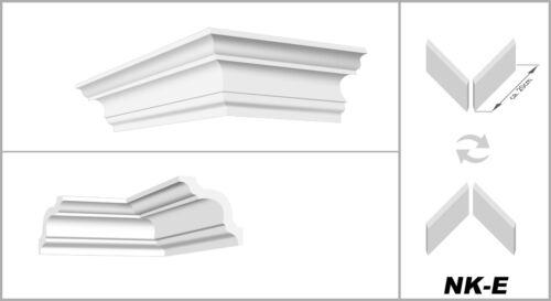 4 Ecken Styroporleiste Zierleisten Stuckleiste hart 50x50mm E-12-NK 20 Meter