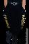 Indexbild 1 - MYO-Lagenlook schmale Ballonhose Jogpants Gold-Print 42 44 46 48 50 52 54 56