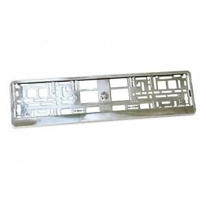 2-X-Plata-Metalico-Universal-ABS-Numero-De-Matricula-rodea-titulares-Marcos-M