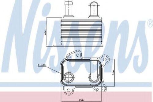 Nissens Oil Cooler Transmission engine oil 90825 Replace 5650345,5650756,5650787