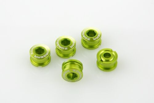 x5 New 7075 Cycling Bike Bicycle Chainring Bolts for Single Speed Crank Green