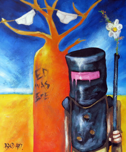 "28/"" x 20/"" ned kelly art painting australia by andy baker canvas print  COA"
