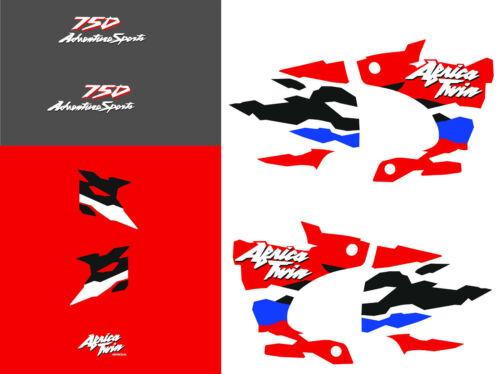 Africa twin 750 (1996 gris noir rouge) autocollant sticker decal aufkleber moto