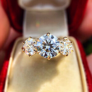 Luxury-925-Silver-Round-Moissanite-Wedding-Engagement-Ring-Women-Gift-Wholesale