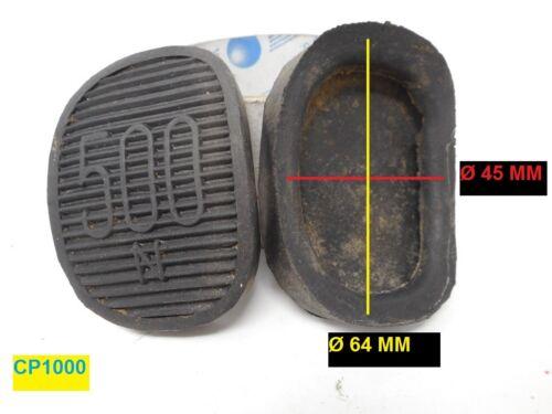 Coppia tassello pedale freno//frizione Fiat 500 N originali dell/'epoca