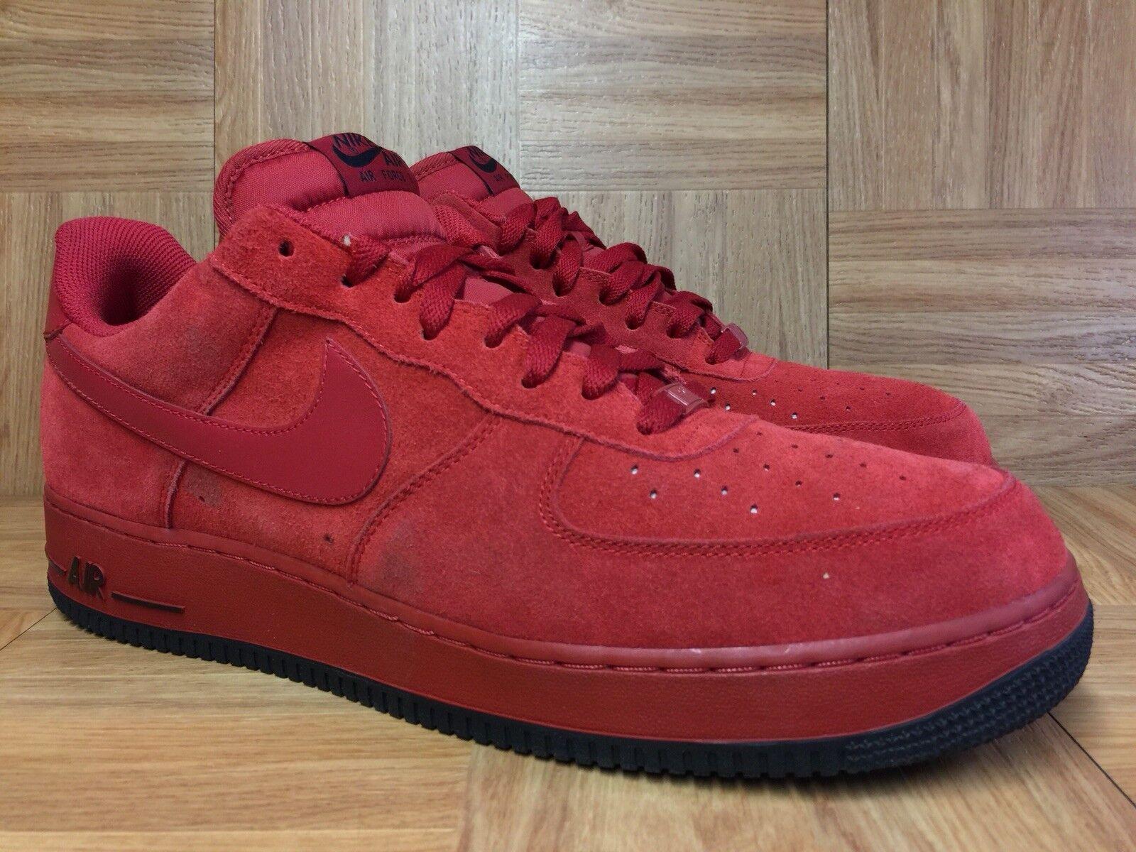 e5679e4b49 RARE Nike Air Force 1 '07 Varsity Red Suede Men's shoes Sz 14 315122-608  noprle8705-Athletic Shoes