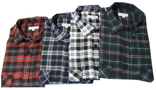 Cotton Flannel Brush  Shirt  Work Casual Check Lumberjack Walking Shirts