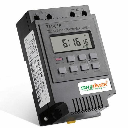 Programmable Control 220V12V Time 30A Relay SINOTIMER Day TIMER 7 SWITCH Digital