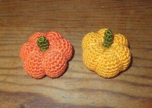 Handmade Cat Toy, pumpkin crochet with catnip, 2 pc amigurumi