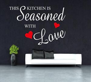 This Kitchen Is Seasoned With Love Wall Art Wall Sticker Uk Sh127 Ebay