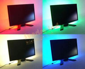 led lichtleiste tv hintergrund beleuchtung set einfarbig mit 5v usb kabel. Black Bedroom Furniture Sets. Home Design Ideas