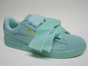 puma blue basket heart