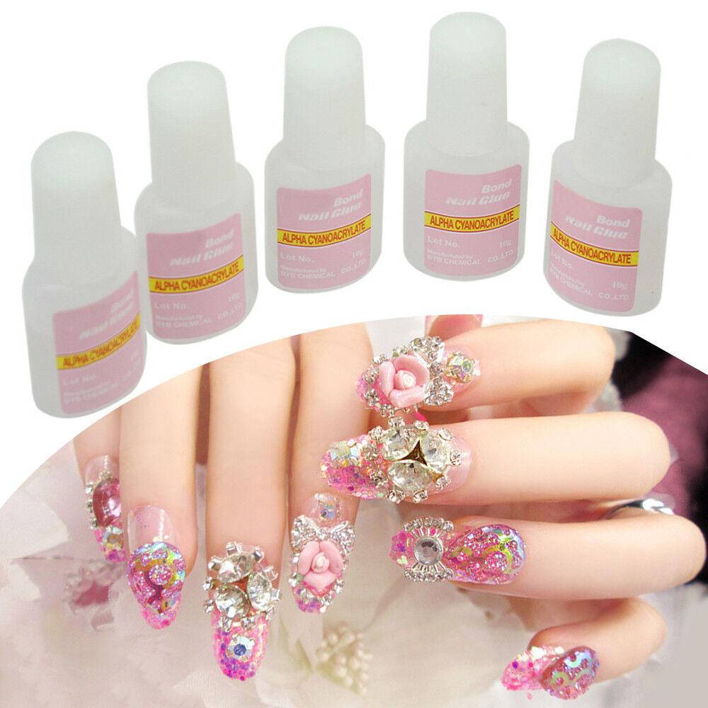 1X Nail Polish Super Strong Fake Nails Glue Adhesive For Fingernail Decor Supply 5