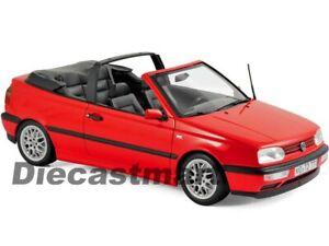 Norev-1-18-1995-Volkswagen-Golf-Cabriolet-VW-Diecast-Model-Car-Red-188433-New