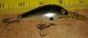 Rapala Fat Rap FR-5 S 2 in. Balsa Finland Silver/Black Fishing Tackle Lure Exc.