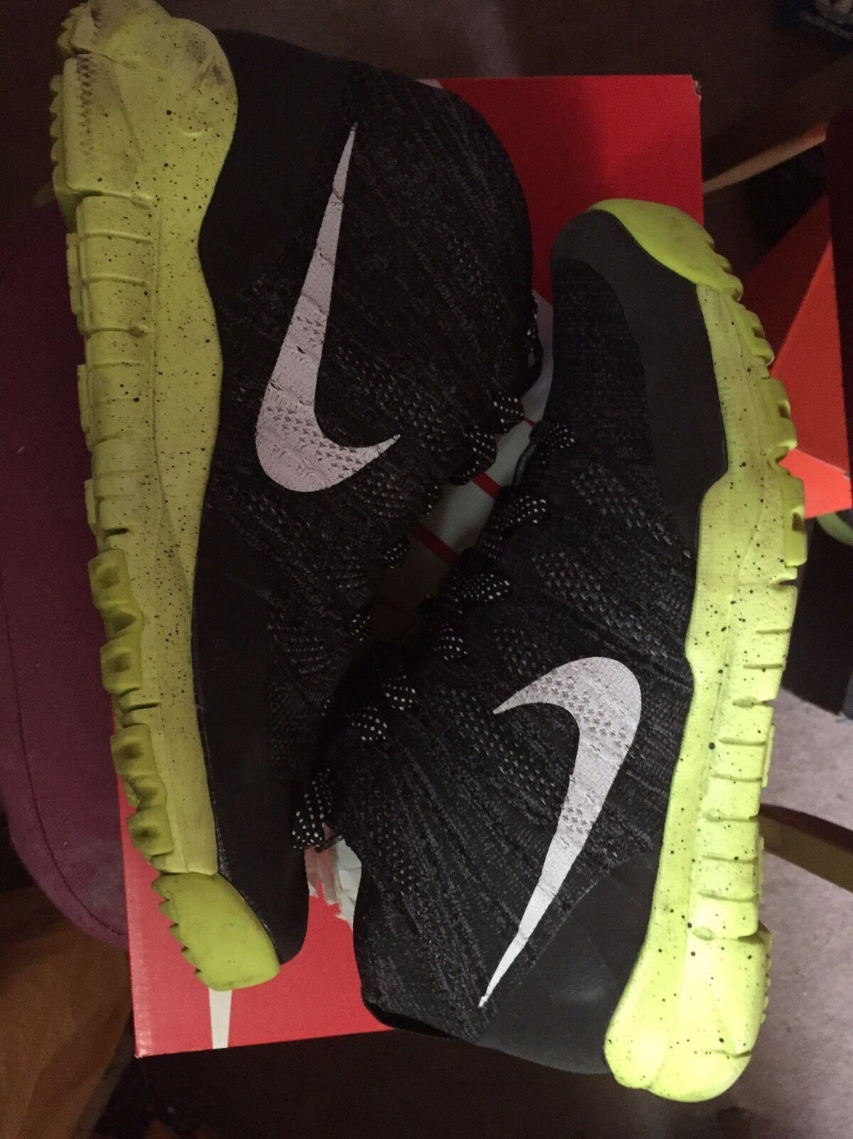 Nike Flyknit Size Trainer Chukka FSB Charcoal/Volt Size Flyknit 10.5 c68426