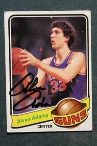 Phoenix Suns Star Alvan Adams signed/autographed 1979-80 Topps card-SO COOL!