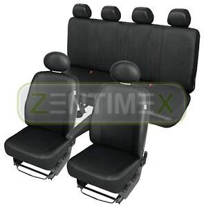 Sitzbezüge Schonbezüge SET QR Mercedes Sprinter Kunstleder schwarz