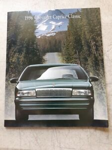 1996 Chevrolet Chevy Caprice Classic Last Original Sales Brochure Catalog Book