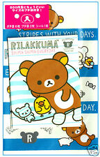 San-x Rilakkuma Mini Kawaii Envelope Set w/ Stickers: Shima Stripe