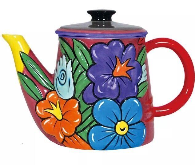 BURTON MORRIS Westland Giftware Flowers 52-oz Ceramic TEAPOT