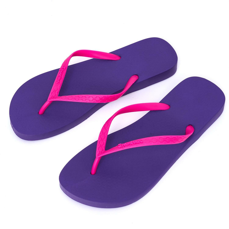 Ipanema Women's flip Brazil flops Rubber Sandals thong Brazil flip Beach Purple Pink Strap 5a01e2