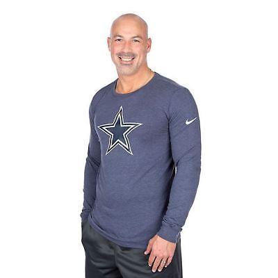Dallas Cowboys NFL Womens Nike Tri Vault Logo V Neck Tee