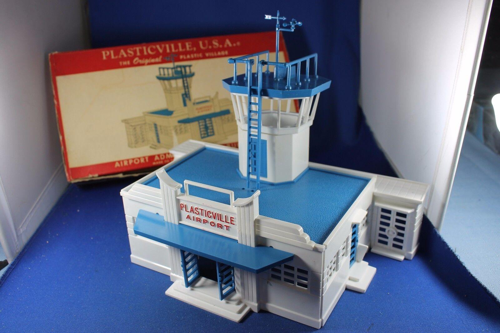 O s-Plasticville  AD-4-198 aeropuerto edificio de la administración-Completo-Caja