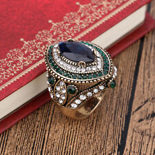 Gemma Luxury Big Sapphire Jewelry Vintage Wedding Women High Quality Pary