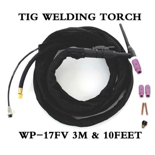 TIG Welder Welding Torch WP-17FV Flex-Valve 150A 3M /& 10Feet Air-Cool