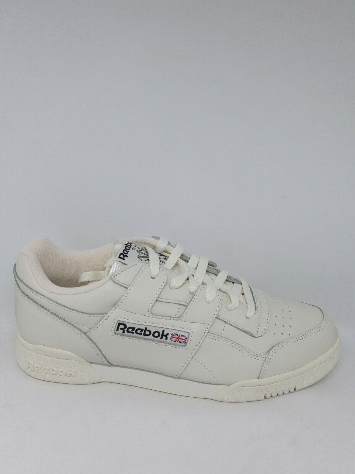 Reebok Workout plus mu cn4966 calcetines cortos zapatos cuero blancoo uk8, 5 talla 42,5 nuevo
