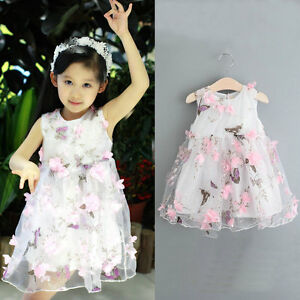 Baby Clothes Kid Girls Summer Dress Girl Pageant Wedding Dress Lace Flower Dress