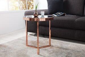 Das Bild Wird Geladen Designer Couchtisch Glastisch Tisch  Beistelltisch Kupfer Schwarz RETRO
