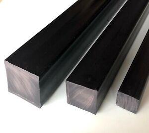 Barra-Quadro-PVC-Pieno-Nero-Scegli-Lato-e-Lunghezza