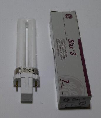 F7BX//827 Kompaktleuchtstofflampe GE 7W G23 Biax S 2700k