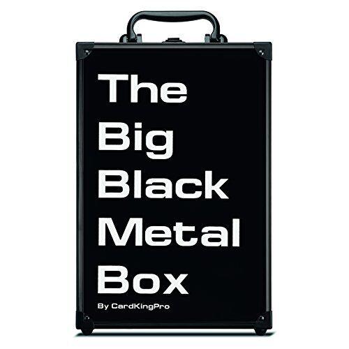 Cocheds Against Humanity soporte de almacenamiento de información cubierta rígida juego llevar caja de metal negro grande