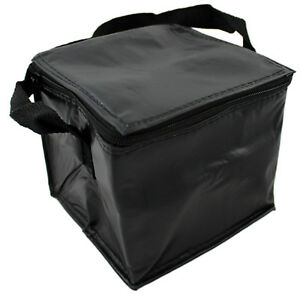 494898dd1b76 Details about BLACK 4 CAN INSULATED COOL BAG SNACK SANDWICH BAG LUNCH  SCHOOL MEDICAL SUPPLIES