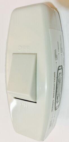 5X 6 A Inline Interrupteur De Lumière Pour Table Lampe de bureau cordon 3 Core torpille Rocker Blanc