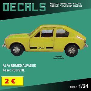 DECALS repro Alfa Romeo Alfetta GT Guida TV kit Bburago Burago 1//24 1 24 decal