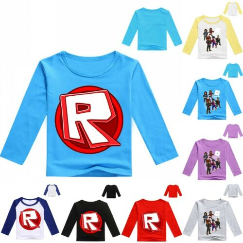 Roblox Children Boy T-Shirt Tops Costume Pullover Long Sleeve Round Neck Clothes