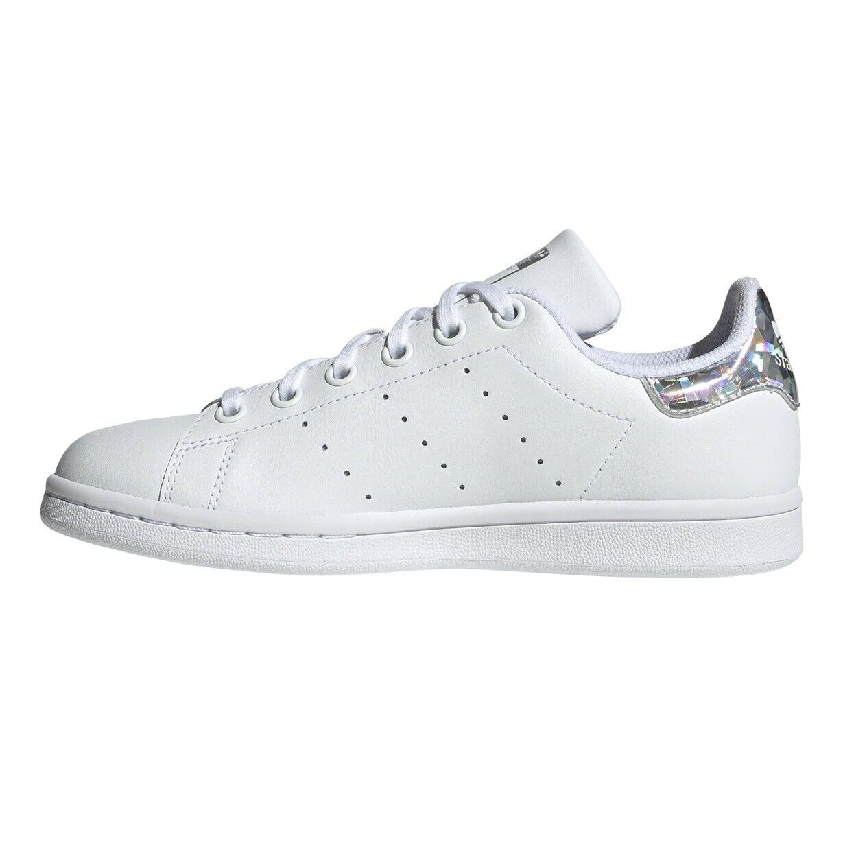 schuhe damen Adidas Stan Smith Originals Turnschuhe Ragazza Bianco Silber Silber