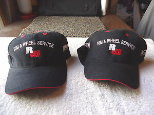 Set-Of-2-034-NOS-034-Rim-amp-Wheel-Trucking-Parts-Hats-034-AWESOME-COLLECTIBLE-PAIR-034