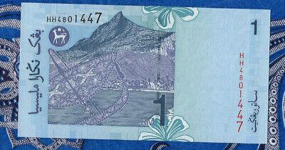 P39b-2 Prefix 3 Letter paper money UNC Malaysia 1 Ringgit 1998