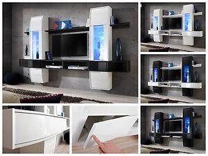 la imagen se est cargando salon modular de pared estanteria comet i alto - Iluminacion Led Salon