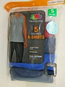 A-Shirts Fruit Of The Loom Tag Free Duel Defense  5 Pack Colors New