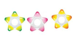 Intex-Inflatable-Star-Shape-Swim-Rings-1-Pack-Colors-May-Vary-Ages-3-6-Float