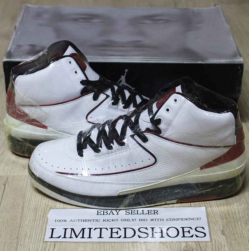 Nike air jordan ii rosso retro chicago white varsity rosso ii 308308-161 10 - c og a6ef2b