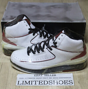 NIKE AIR JORDAN 2 II RETRO CHICAGO WHITE VARSITY RED 308308-161 US 10 don c og